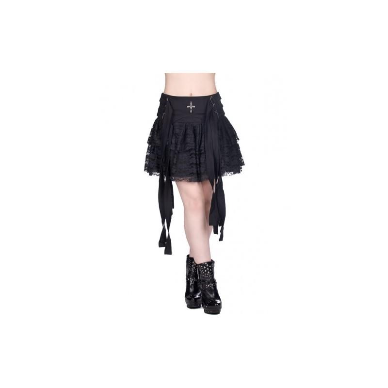 abde65422 Falda Aderlass Axle Mini Denim Black — Camden Shop