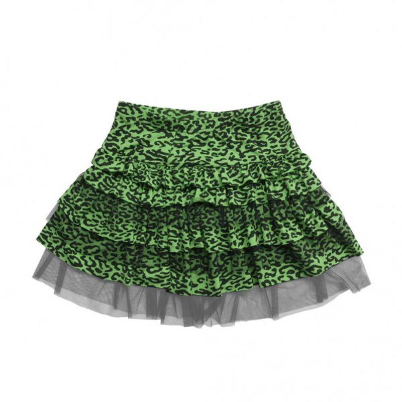 d0c82adf7 Falda Leopardo Tutu Verde