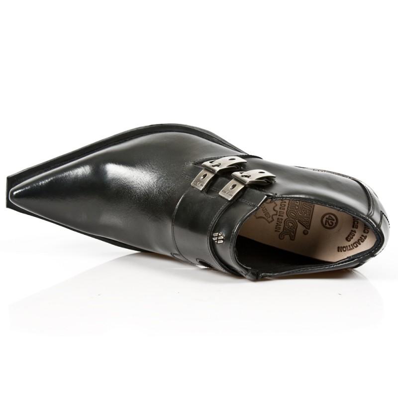 M Acero Zapatos New Rock S1 NegroWest Tacon Antik 7934 Negro W9YE2DHeI